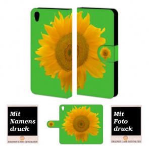 One Plus X Sonnenblumen Handy Tasche Hülle Foto Bild Druck