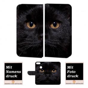 One Plus 5 Schutzhülle Handy mit Schwarz Katze + Bild + Logo Text Druck