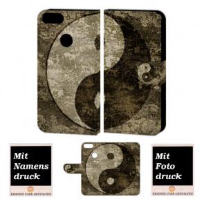 One Plus 5 Schutzhülle Handy Tasche mit Yin Yang + Foto Text Druck