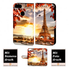 One Plus 5 Personalisierte Handy Hülle Etui mit Eiffelturm + Bild Druck