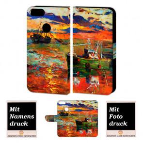 One Plus 5 Handy Hülle Tasche mit Gemälde + Bild Druck Etui