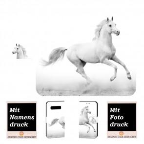 Samsung Galaxy S10 Lite Handy Tasche mit Pferd + Bilddruck Text Etui