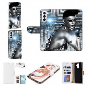 Samsung Galaxy S21 Plus Handy Hülle mit Bilddruck Robot Girl