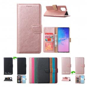 Handy Schutzhülle Cover Case Tasche für Huawei P Smart (2021) in Rosa Gold