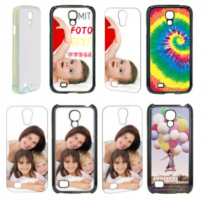 2D Hülle für Samsung Galaxy S4 mini i9190 Hard Case mit Foto und Text zum selbst gestalten.