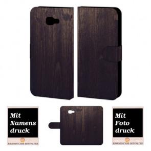 Samsung Galaxy C7 Personalisierte Handyhülle mit Fotodruck Holz Optik