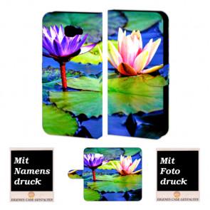 Samsung Galaxy C7 Handyhülle Tasche mit Foto Druck Lotosblumen