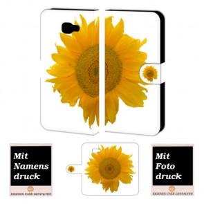 Samsung Galaxy C7 Handyhülle Tasche mit Sonnenblumen + Bilddruck