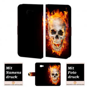 Samsung Galaxy A3 (2017) Handyhülle mit Totenschädel - Feuer Bilddruck