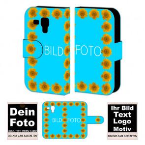 Ledertasche für Samsung Galaxy S Duos mit Foto und Text zum selbst gestalten