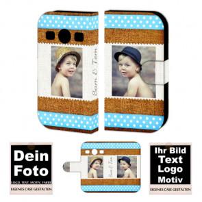 PU-Ledertasche für Samsung Galaxy Xcover 2 mit Foto und Text zum Druck