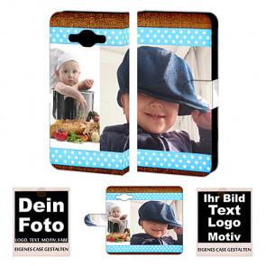 PU-Ledertasche für Samsung Galaxy J3 Pro Handy mit Fotodruck Text