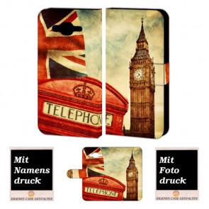 Handyhülle Tasche mit Big Ben-London Bilddruck für Samsung Galaxy J1