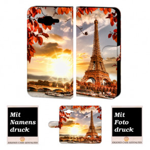 Samsung Galaxy A5 Individuelle Handy Hülle mit Eiffelturm Foto Druck