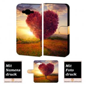 Smartphonehülle für Samsung Galaxy J1 mit Fotodruck Herzbaum Etui