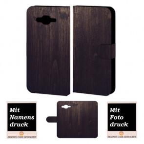 Schutzhülle Handy mit Holz Optik Fotodruck für Samsung Galaxy J3 Pro