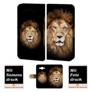 Samsung Galaxy J5 Handyhülle Tasche mit Löwe Bild und Text Druck