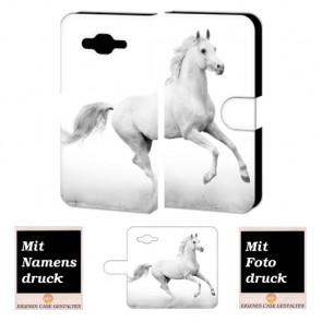 Samsung Galaxy E5 Individuelle Handyhülle mit Bilddruck Pferd Etui