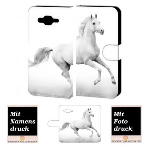 Individuelle Handyhülle für Samsung Galaxy E7 mit Pferd Foto Druck