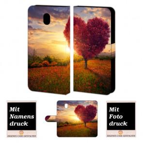 Samsung Galaxy J5 (2017) Personalisierte Handyhülle mit Herzbaum Foto Druck
