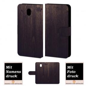 Samsung Galaxy J7 (2017) Handyhülle mit Bilddruck Holz Optik Tasche