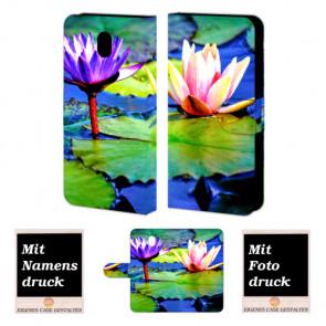 Handyhülle mit Fotodruck Lotosblumen Etui für Samsung Galaxy J7 (2017)