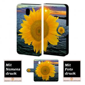 Samsung Galaxy J7 (2017) Handyhülle mit Fotodruck Sonnenblumen Etui