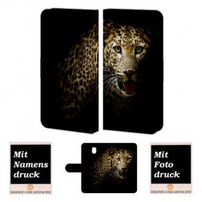 Handyhülle für Samsung Galaxy J7 (2017) mit Leopard Fotodruck Text