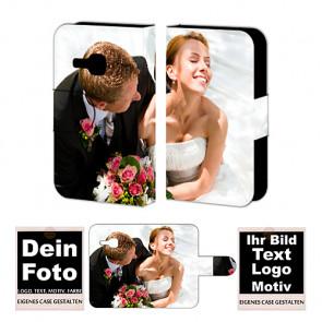 PU-Ledertasche für Samsung Galaxy mini 2 S6500 mit Foto und Text Druck