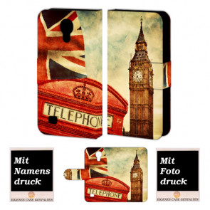 Samsung Galaxy S4 Handy Tasche Hülle mit Big Ben-London + Bilddruck