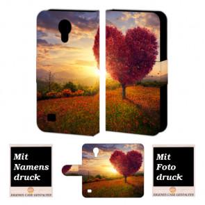 Samsung Galaxy S4 Mini Personalisierte Handyhülle mit Foto selbst gestalten Herzbaum
