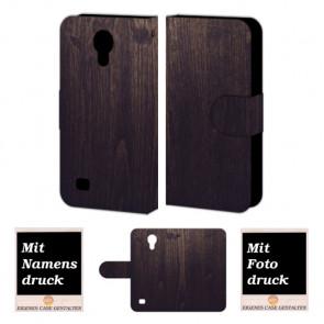 Samsung Galaxy S4 Schutzhülle Handyhülle mit Holz - Optik + Bilddruck