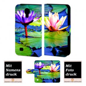 Samsung Galaxy S4 Handyhülle Tasche mit Lotosblumen +Fotodruck