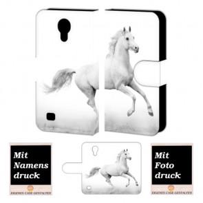 Samsung Galaxy S4 Personalisierte Handyhülle mit Pferd + Bild Druck