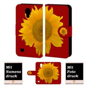 Samsung Galaxy S4 Handyhülle Tasche mit Sonnenblumen +Bilddruck
