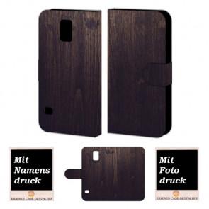 Samsung Galaxy S5 mini Handyhülle mit Foto Bild Druck zum selbst gestalten Holz Optik