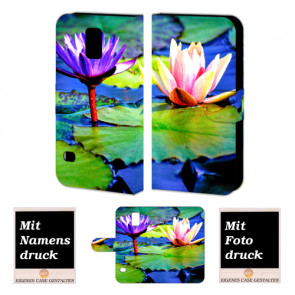 Samsung Galaxy S5 mini Personalisierte Handyhülle mit Foto Bild Druck Lotosblumen