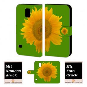 Samsung Galaxy S5 mini Handyhülle mit Foto Bild Druck zum selbst gestalten Sonnenblumen