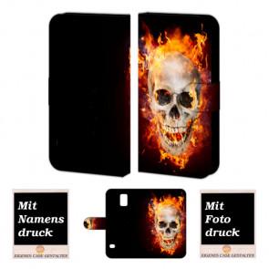 Samsung Galaxy S5 mini Handyhülle mit Foto Bild Druck zum selbst gestalten Totenschädel