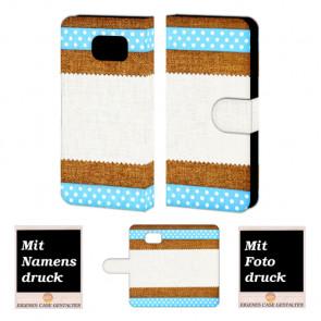 Samsung Galaxy S6 Muster Handy Tasche Hülle Foto Bild Druck