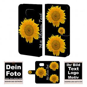 Ledertasche für Samsung Galaxy S6 mit Foto und Text zum selbst gestalten