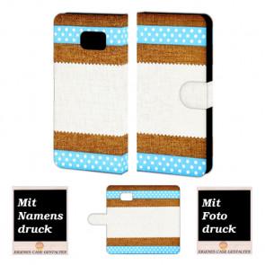 Samsung Galaxy S6 Edge + Schutzhülle Handy Tasche mit Muster Fotodruck