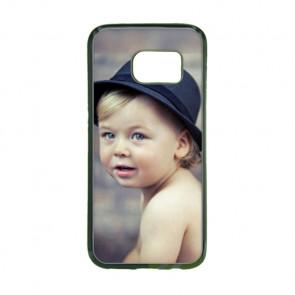 2D Hülle für Samsung Galaxy S7 Hard Case mit Foto und Text zum selbst gestalten.