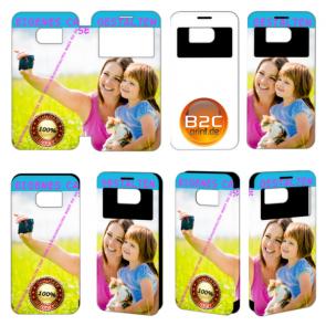 Kalaideng View Flip Tasche für Samsung Galaxy S7 mit Fotodruck Text