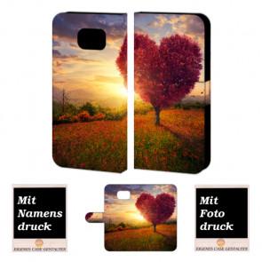 Samsung Galaxy S6 Edge + Personalisierte Handyhülle mit Herzbaum Fotodruck