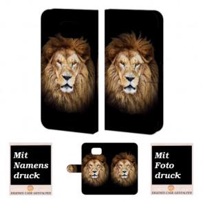 Samsung Galaxy S6 Edge + Handyhülle mit Fotodruck Löwe Etui