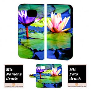 Samsung Galaxy S6 Edge + Individuelle Handyhülle mit Lotosblumen Fotodruck