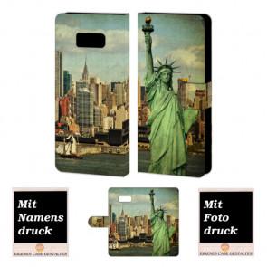 Samsung Galaxy S8 Plus Handyhülle selbst gestalten mit eigenem Foto Freiheitsstatue