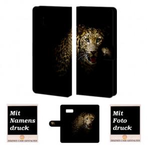 Samsung Galaxy S8 Plus Handy Tasche Hülle mit Foto Bilddruck +Leopard