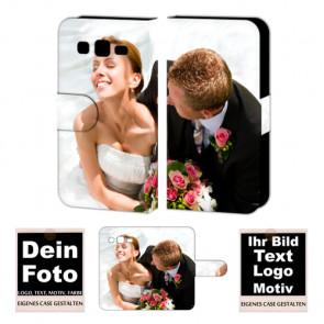 Ledertasche für Samsung Galaxy Win Pro mit Foto und Text zum selbst gestalten